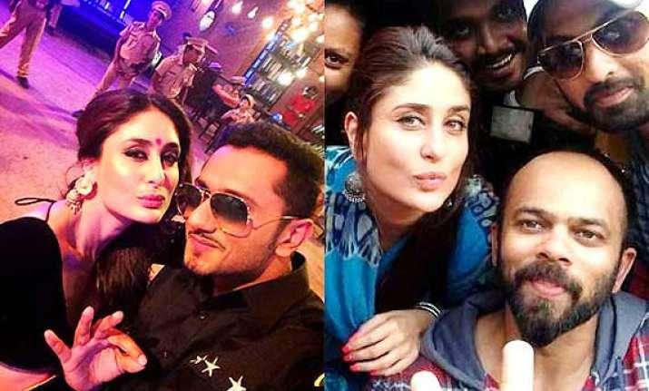 kareena kapoor khan pouts with yo yo honey singh see pics