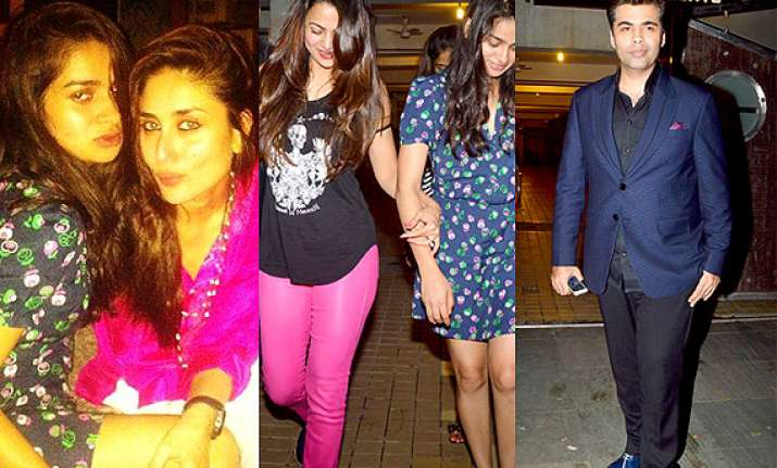 kareena kapoor throws bash for karan johar amrita arora