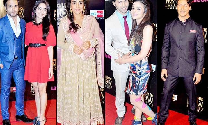 life ok now awards 2014 alia varun vidya grace the red
