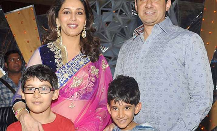 madhuri dixit i m a strict mother see pics