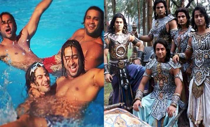 off screen bromance of pandavas from mahabharat sets see