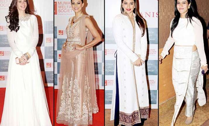 kajol sushmita sonakshi kalki turn the heads at mijwan 2014