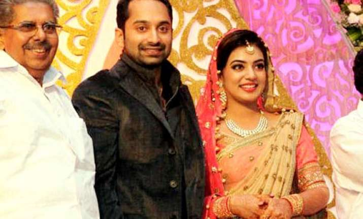 nazriya nazim and fahadh faasil s star studded wedding