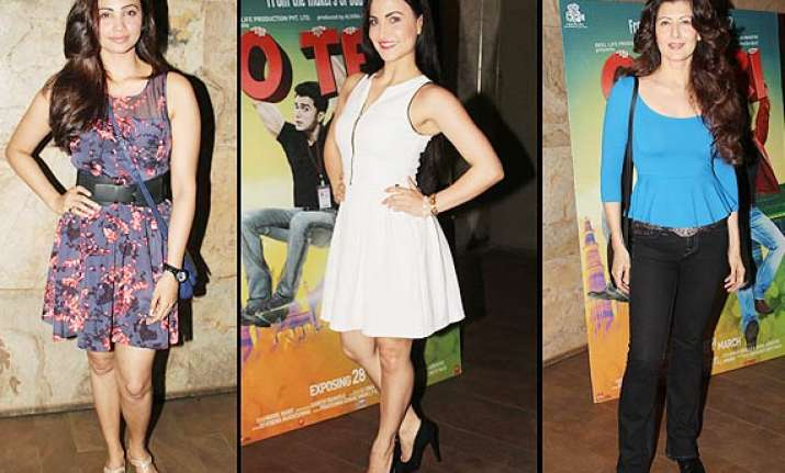 o teri special screening not salman but his lady loves