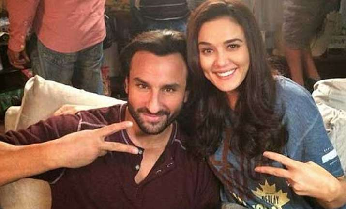 preity zinta shoots with saif for happy ending