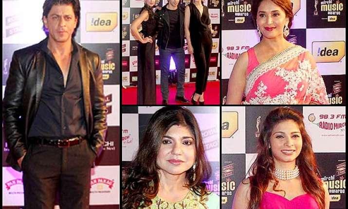 radio mirchi awards 2014 shah rukh madhuri and top singers