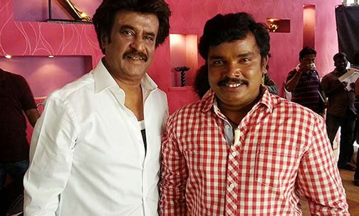 meeting rajinikanth a lifetime achievement sampoornesh