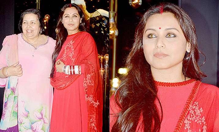 rani mukerji gives first appearance as newlywed looks