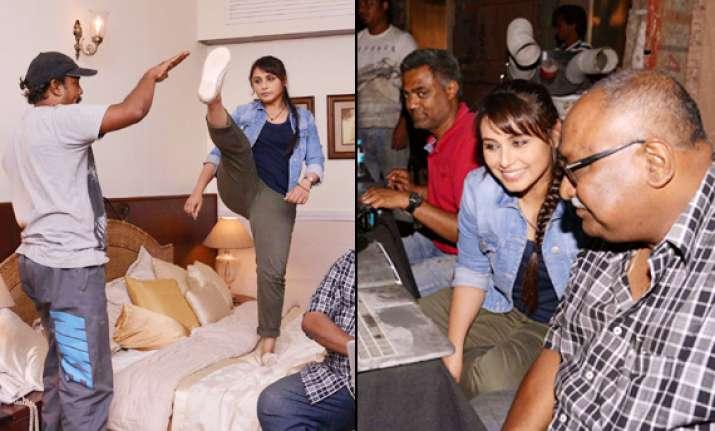 exclusive rani mukerji on the sets of mardaani see pics
