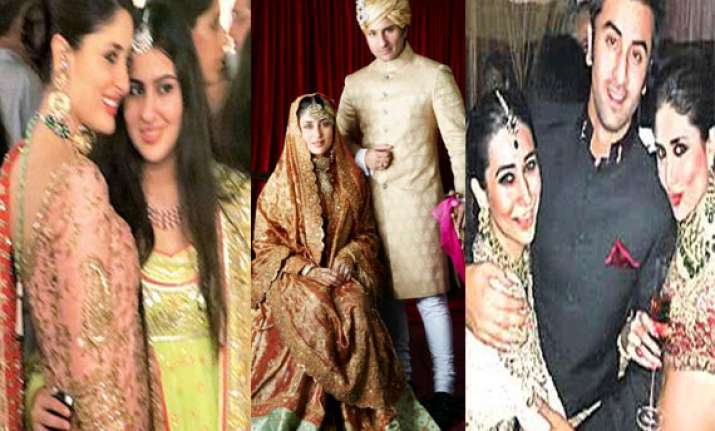 unforgettable moments of saif kareena wedding see pics