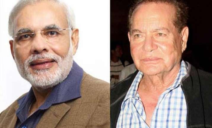 salman khan s father salim khan to attend narendra modi s