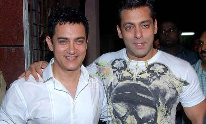 salman aamir s go for a night out in delhi see pics