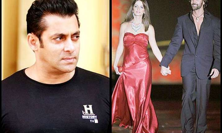 salman khan trying hard to reunite hrithik sussanne see pics