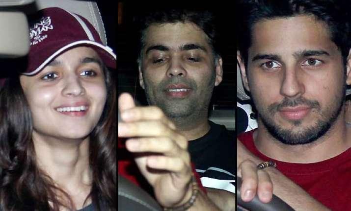 kick special screening alia sidharth karan johar cheer for