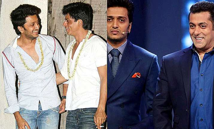 not shah rukh but salman to do a cameo in riteish s film