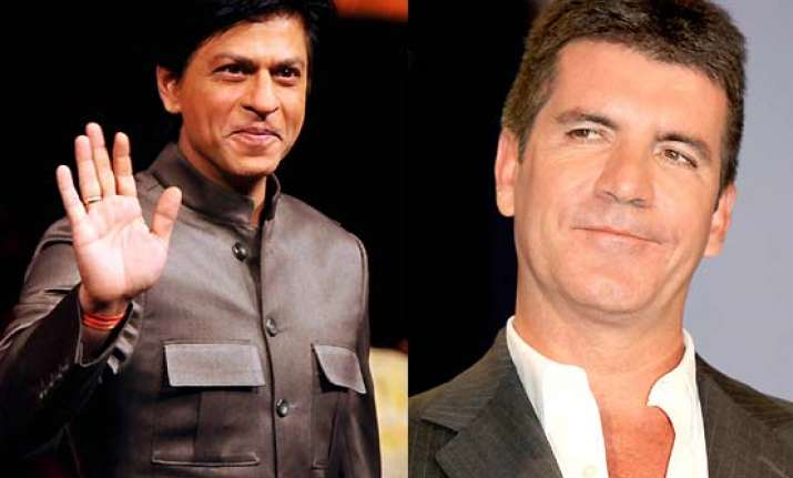 shah rukh khan to get simon cowell for got talent show in
