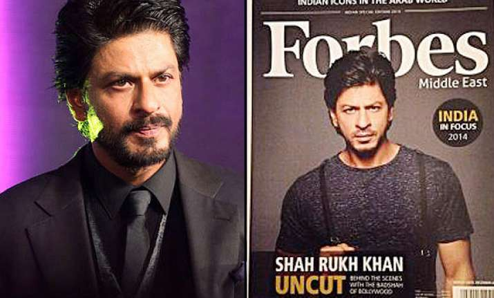 applauds shah rukh covers forbes middle east becomes first