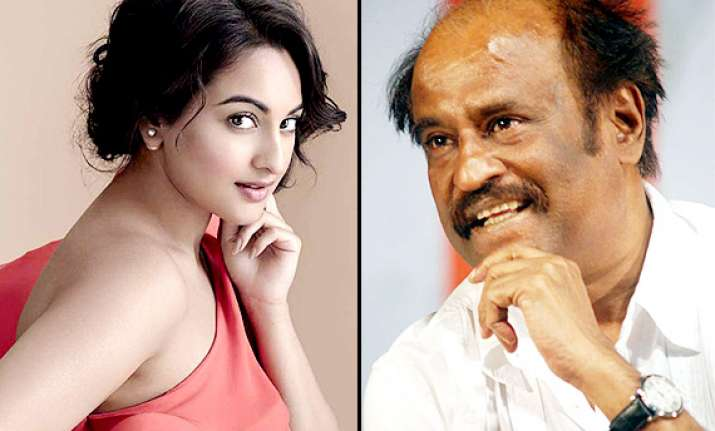 sonakshi was nervous about working with rajinikanth