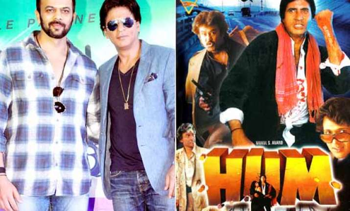 shah rukh khan to step into big b s shoes for hum remake