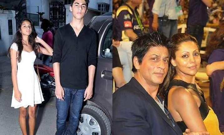 shah rukh khan s on screen heroism is for kids aryan suhana