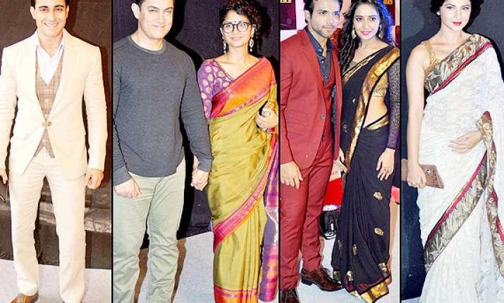 star parivaar awards 2014 aamir khan and wife kiran look
