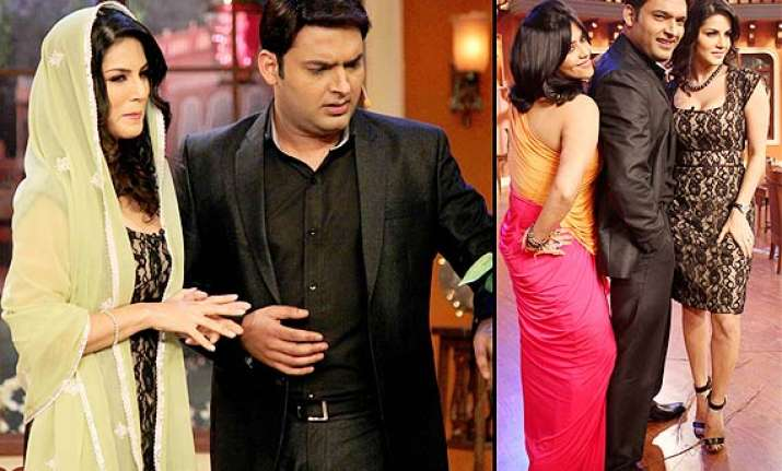 comedy nights with kapil hot sunny leone turns bahu for