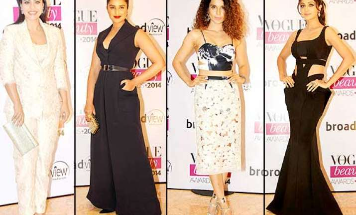 vogue beauty awards 2014 bollywood ladies look alluring at