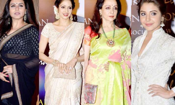 sridevi hema malini anushka and rani at yash chopra