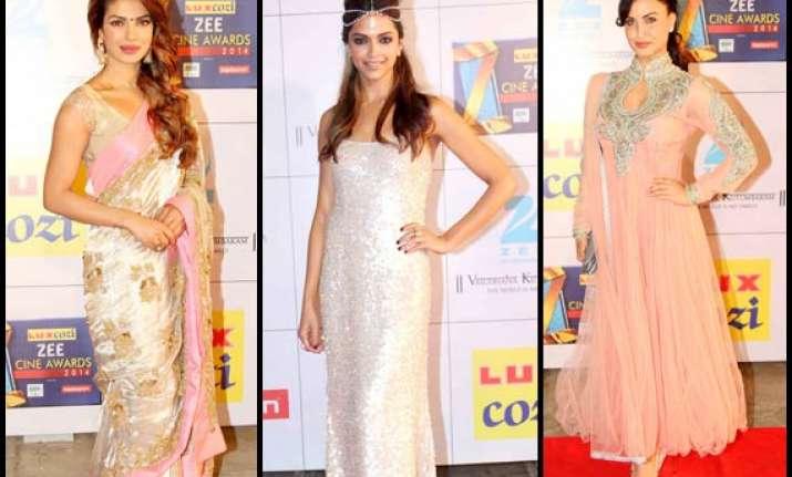 zee cine awards 2014 deepika priyanka elli sizzle at the