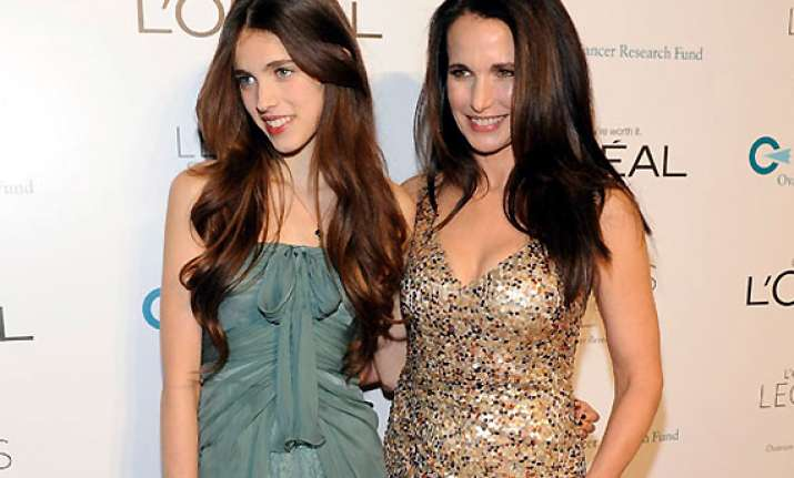andie macdowell lets daughter take her decision