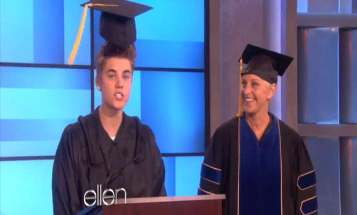 bieber s graduation ceremony with a twist