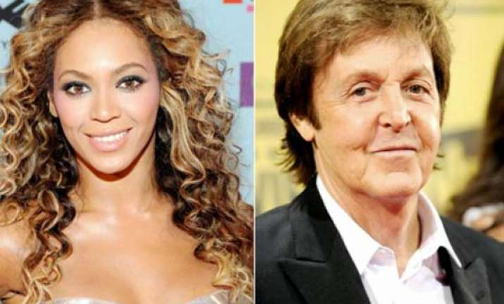 beyonce mccartney work out together