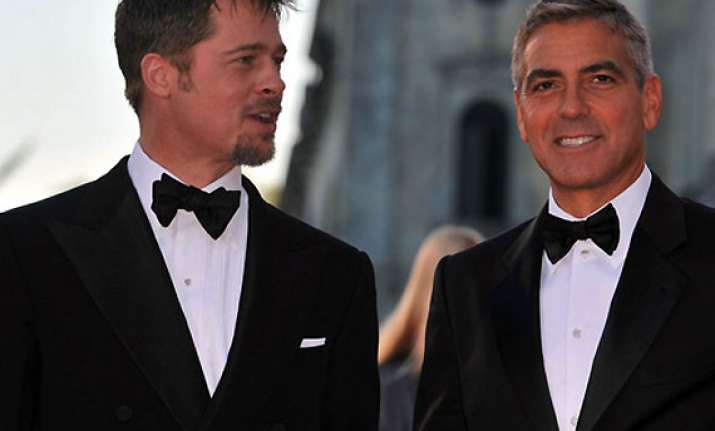 george clooney ropes in pal brad pitt to be his best man