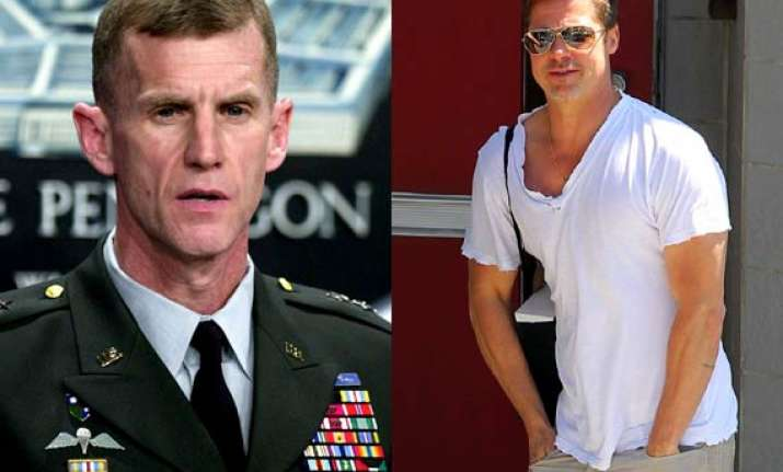 brad pitt to play general mcchrystal in the operators