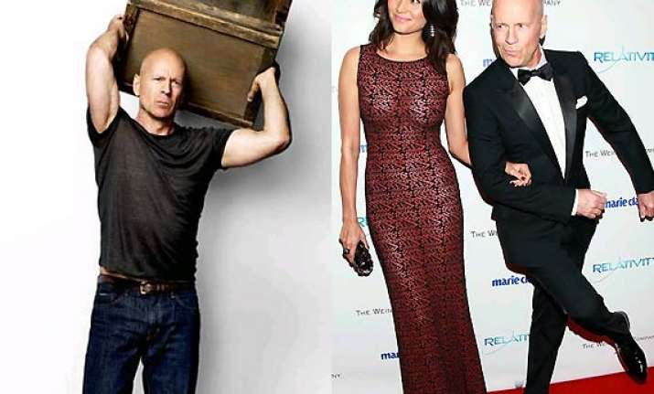 bruce willis wife emma has no influence over his wardrobe