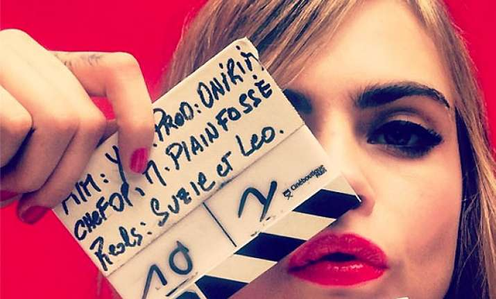 cara delevingne refused to watch herself onscreen