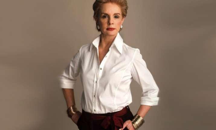 carolina herrera goes for glamour uses necklines to focus