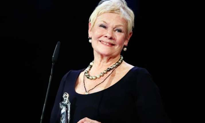 dame judi dench breaks her toes on j. edgar set