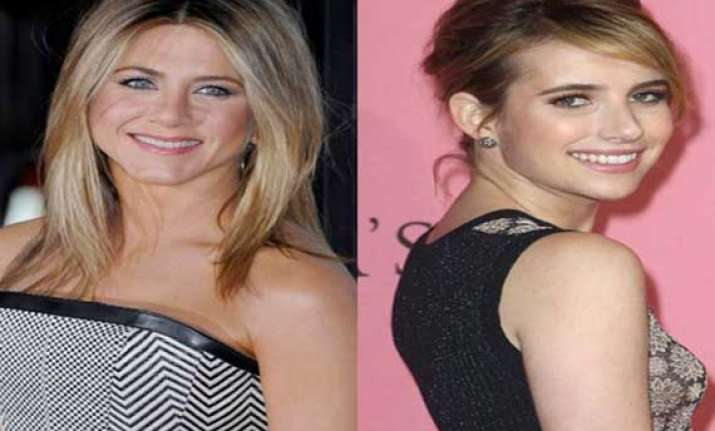 emma roberts star struck by jennifer aniston