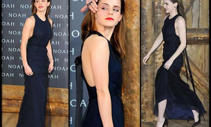 emma watson dazzled the red carpet at noah berlin premiere