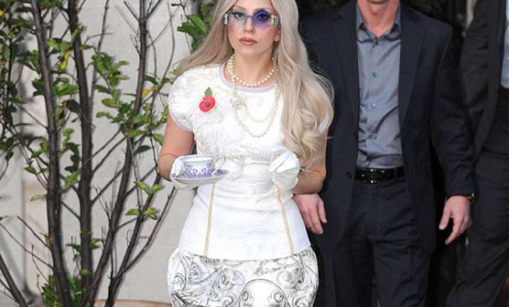 gaga on wheelchair post surgery
