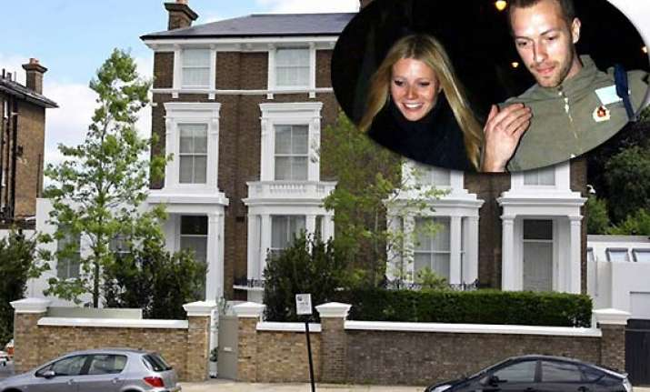gwnneth paltrow chris martin put up their london house on