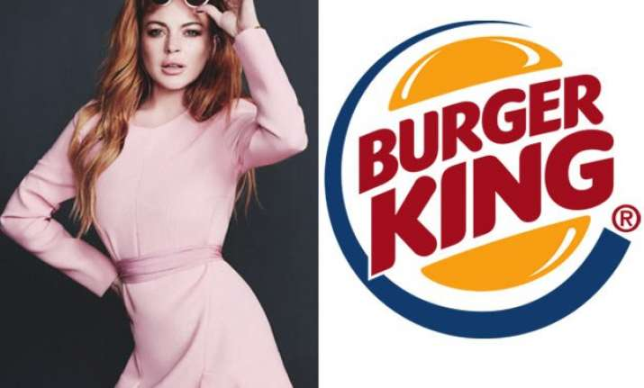 lindsay lohan rejects burger king commercial