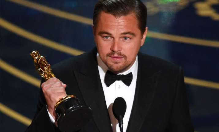 here s how leonardo dicaprio is celebrating his first oscar