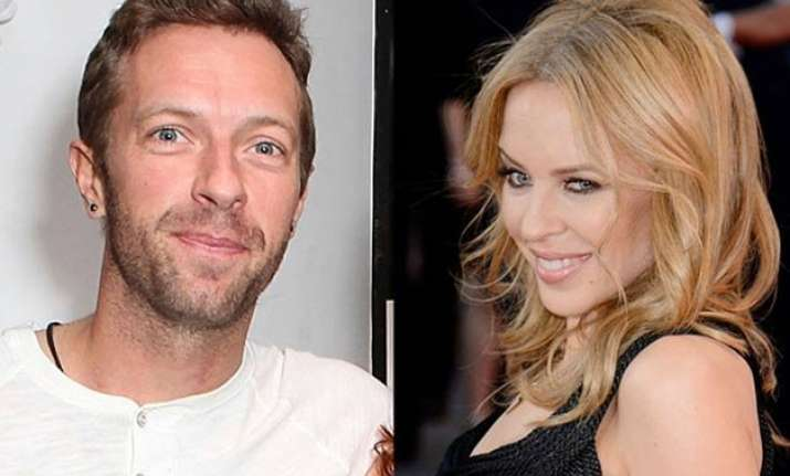 singers chris martin and kylie minogue share chemistry