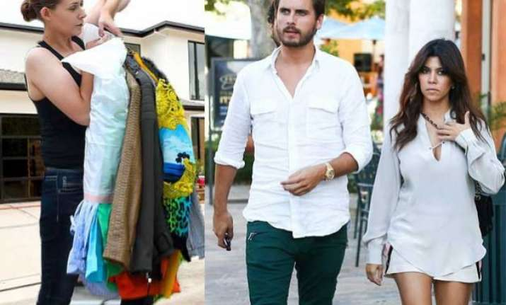 scott disick s things moved out of kourtney kardashian s