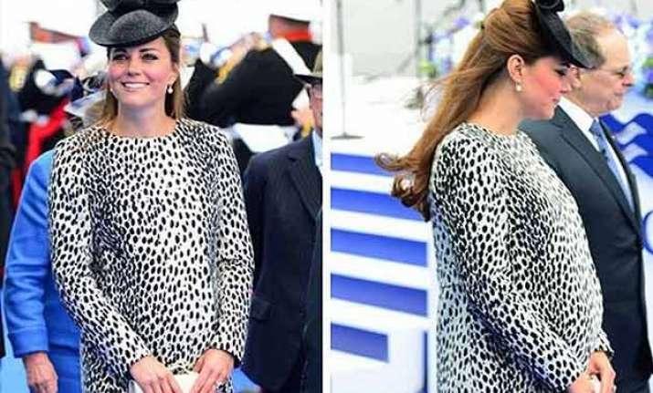 kate middleton repeats dalmatian print coat