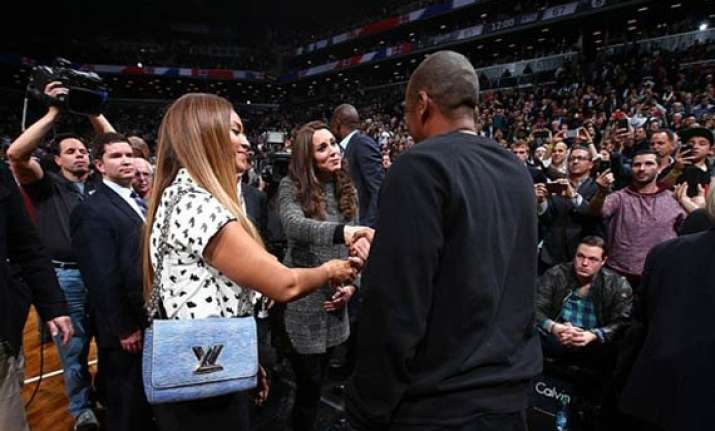 royal couple meets beyonce jay z