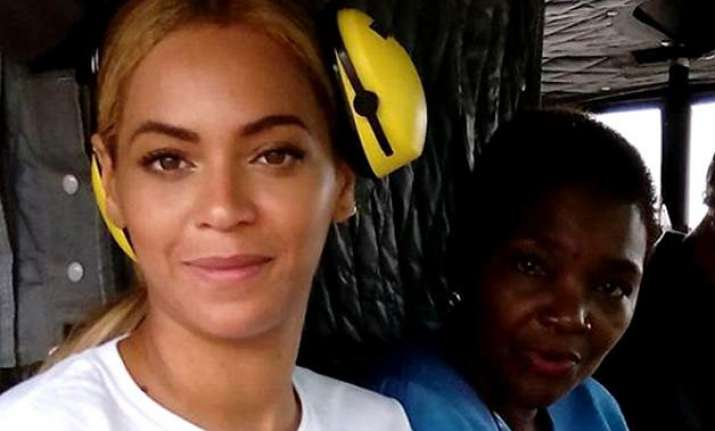 beyonce knowles visits haiti on un mission