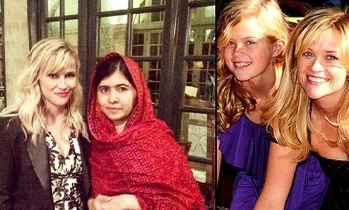 reese witherspoon s daughter in awe of malala yousafzai